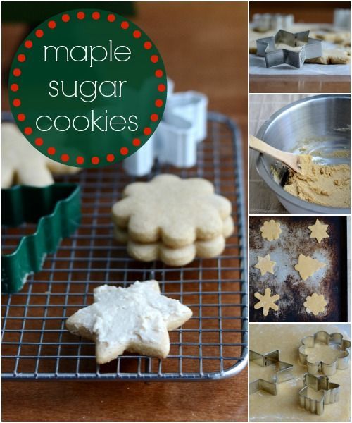 This maple sugar cookie recipe is a great healthy alternative to the refined sugar version. Add these to your Christmas cookie swap. Recipe from Real Food Real Deals.
