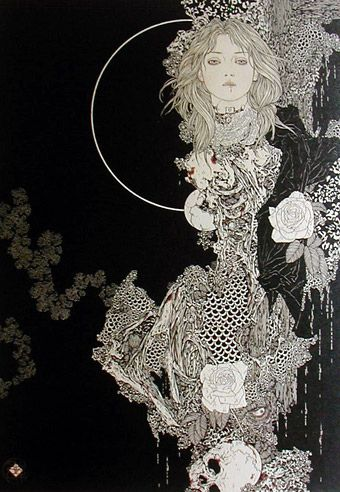 Celaena [Takato Yamamoto] Sarah pinned it on her board And I think it could represent how Celeana will save Erilea but she's also it's deadliest killer
