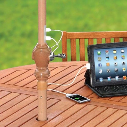 Device Charging Solar Umbrella