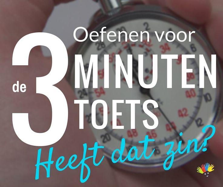 Oefenen voor de drieminutentoets (DMT), heeft dat zin? | Thuisinonderwijs.nl
