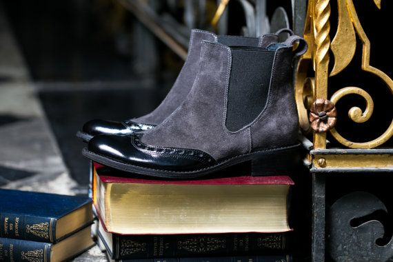 Outside: suede + patent leather  Inside: leather VOUS [vu:] shoes stands for superior handmade quality covered with outstanding design. It is a little