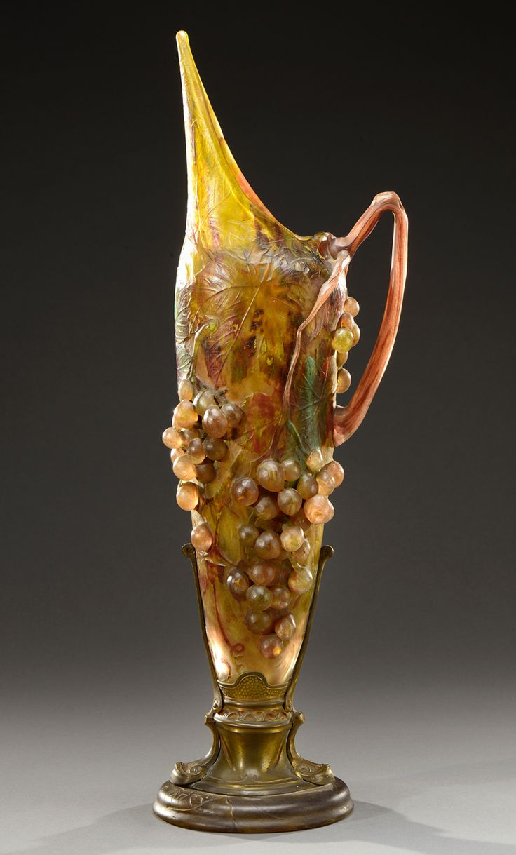 57 best art nouveau vase images on pinterest glass vase flower an exceptional and rare cameo glass ewer with a handle in the shape of a vine reviewsmspy
