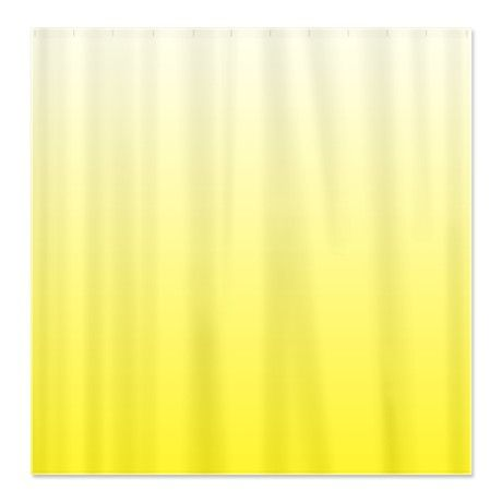 Shades of Yellow Fabric Shower Curtain