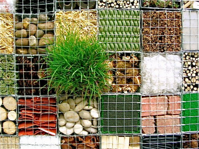 Sensory gabion or as I would call it, a mixed media gabion wall. by Natasha Carsberg
