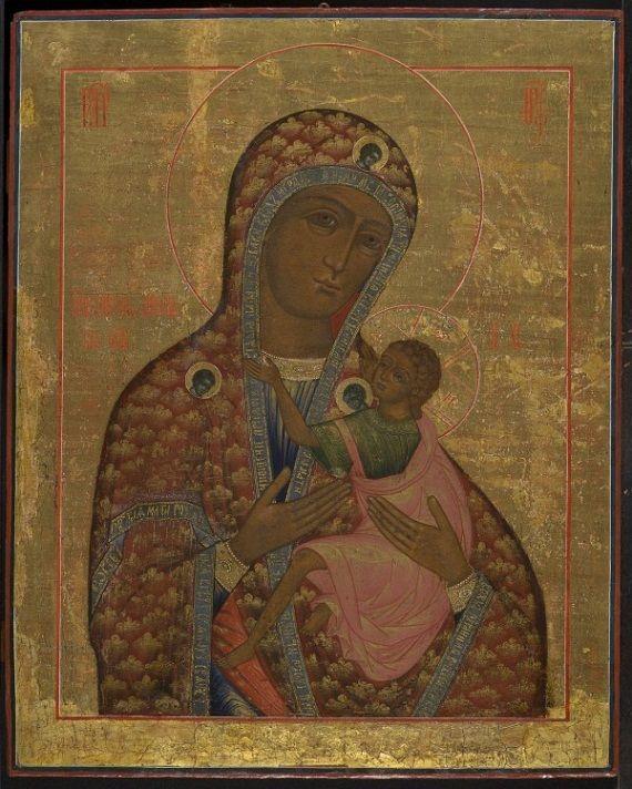Antique Russian Icons -- Oude Russische Ikonen - Virgin of the Hymn