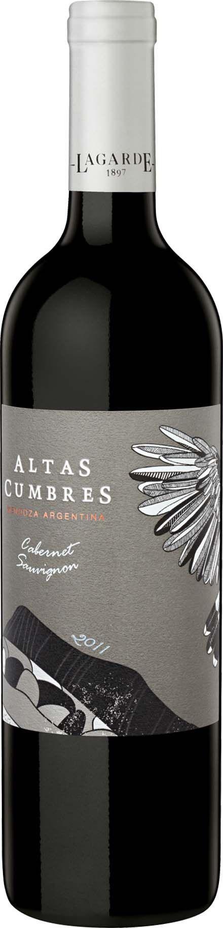 """""""Altas Cumbres"""" Cabernet sauvignon 2012 - Bodega Lagarde, Luján de Cuyo, Mendoza-------------------------------- Terroir: Perdriel------------------ Crianza: 30% del vino. Entre 3 y 5 meses en barrica de roble (50% frances y 50% americano)"""