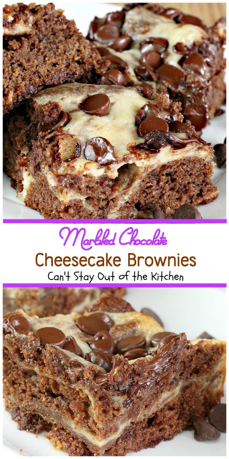 Marbled Chocolate Cheesecake Brownies   Can't Stay Out of the Kitchen   these outrageous brownies will have you coming back for more!