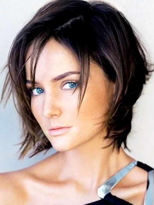 Short Choppy Bob Hairstyle. I'm leaning this way. It's cute, and choppy, but not too too short.