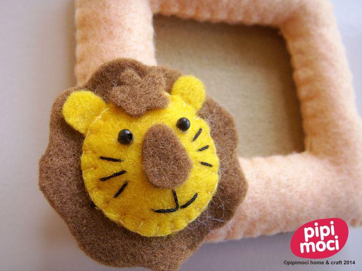 Felt Photo Frame - Cute Little Lion