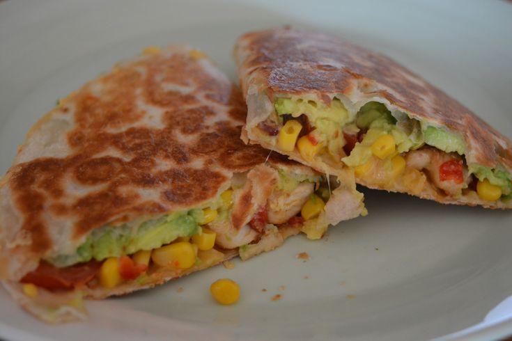 Een heerlijke Mexicaanse tosti: Quesadilla's kip-avocado! Zo simpel recept