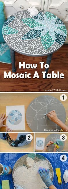 How to create a DIY tabletop mosaic @istandarddesign                                                                                                                                                                                 More