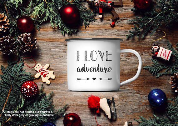 Adventure ENAMEL MUG Custom Camping Mug Personalized Cup
