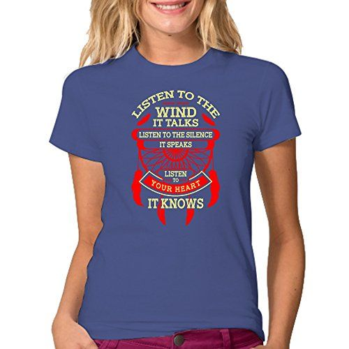 Listen To The Wind It Talks T-Shirt - Color Royal Blue XL…