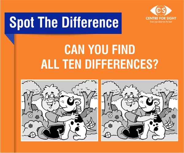 Can you spot all the 10 differences! #SpotTheDifference #CFS #EyeTest #EyeCare