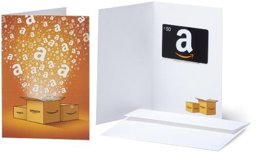Amazon.com $50 Gift Card in a Greeting Card by #Amazon for $50.00 http://amzn.to/2af6aJ0 via @amazon