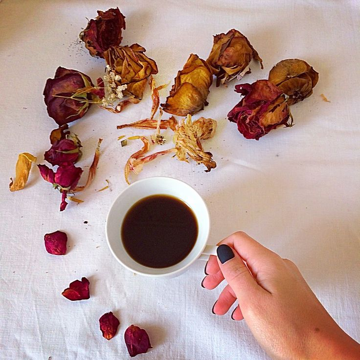 Coffee/ roses/ flat lay