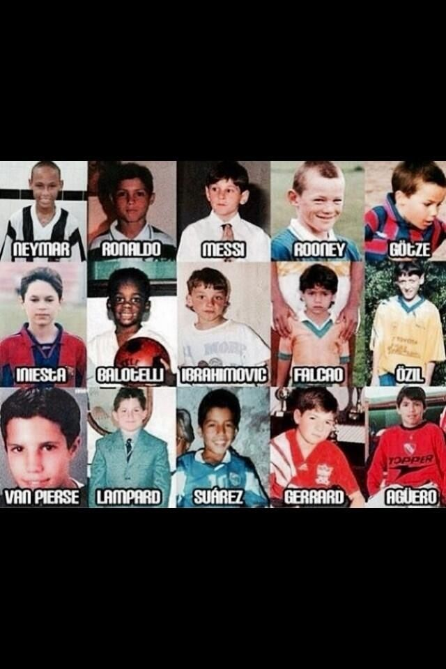 Soccer Players as kids