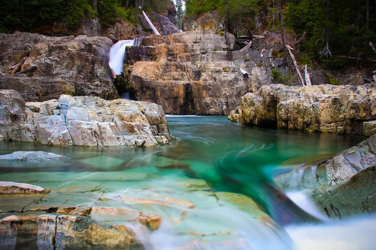Myra Falls, Strathcona Park, BC as photographed by Carrie Cole