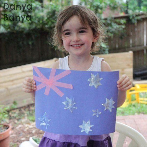 Fun Australian Flag craft that preschoolers will love to make.