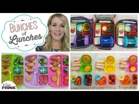 c76ee1f518c8 School Lunch Ideas || Bunches of Lunches Week 1 - YouTube | Lunch ...