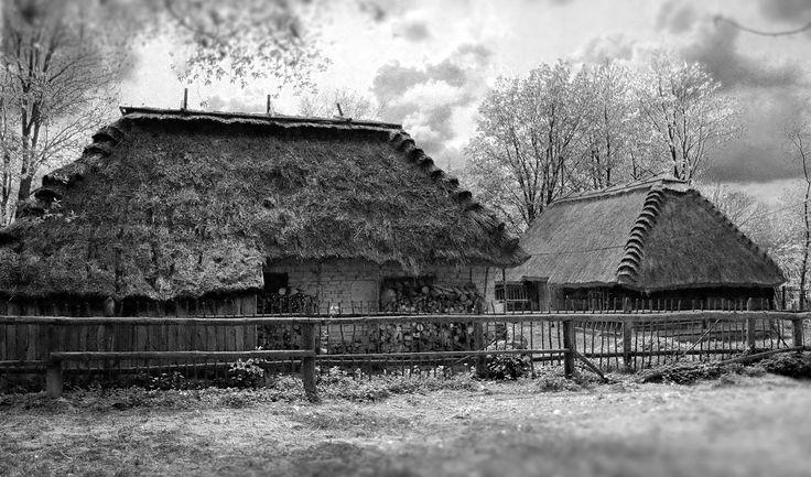 https://flic.kr/p/GwW8x1 | Old Village Barns | Muzeum Wsi Lubelskiej, Skansen, Lublin, Poland, May 2016  Yashica 300 AF, Yashica 28mm F2.8, Fujicolor C200