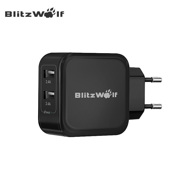 BlitzWolf BW-S2 2.4A Dual USB Travel Wall USB Charger Adapter Universal EU US Mobile Phone Charger For iPhone 7 6 Plus Chargers