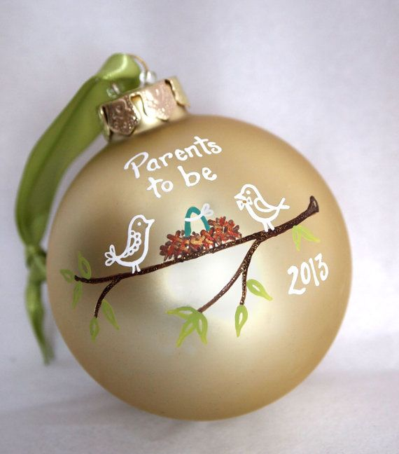 Parents to Be / New Additon to the Family Ornament - Personalized on Etsy, $26.00