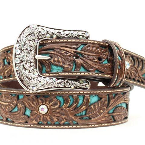 Turquoise Underlay Ladies Belt