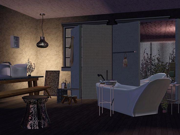 Amanda Bathroom Night Combined by Flowarin