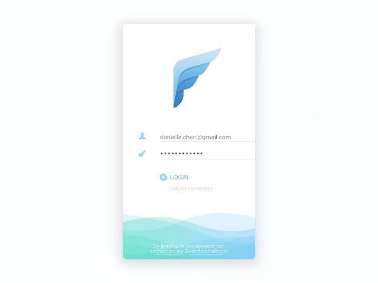 Email Client Login Screen by Jackie Tran