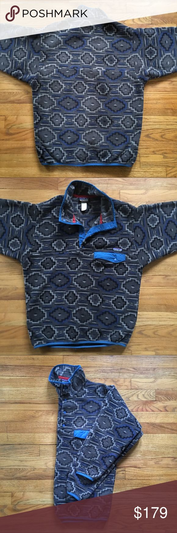 Patagonia Snap-T Synchilla Fleece Pull-Over Jacket Mens Patagonia Snap-T Synchilla Fleece Pull-Over Jacket - Rare Aztec Design - Small.  Pre-owned in great condition. Patagonia Jackets & Coats
