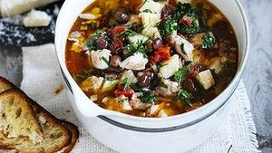Serve soup with grilled sourdough that's been rubbed with garlic and olive oil.