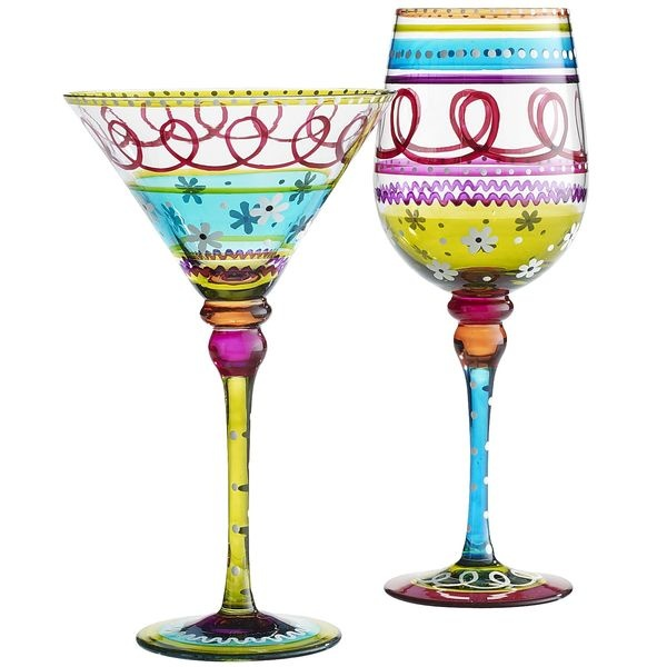 Pier 1 Festive Stripe Stemware is instant fun for the holidays