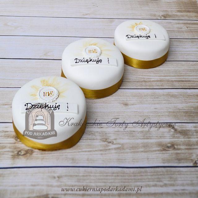 12BC Torciki podziękowanie dla gości na Komunię. First Communion cakes collection.