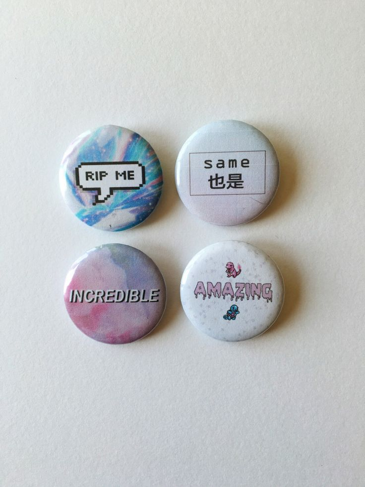 Tumblr Aesthetic Pastel Grunge Pins by MostlyHarmlessGifts on Etsy https://www.etsy.com/au/listing/469989391/tumblr-aesthetic-pastel-grunge-pins
