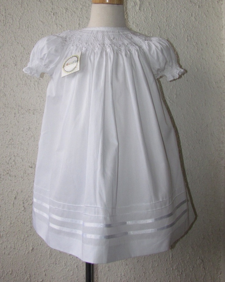 Smocked a lot girls bishop dress - Smocked Baptism Dresses White Smocked Bishop Dresses Sz 3m 6m 12m 2t