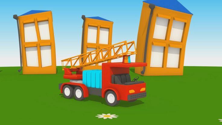 Cartoni Animati per Bambini - Leo Junior dipinge il camion dei pompieri
