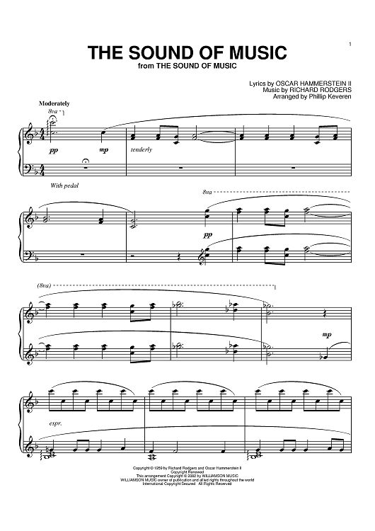 This is a photo of Crafty Free Printable Sheet Music for the Sound of Music