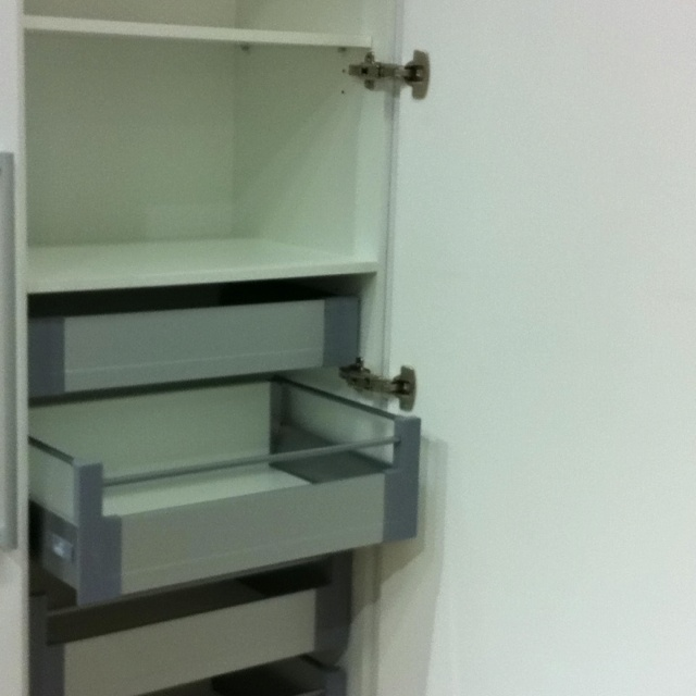 Pantry soft close drawers (touch open)