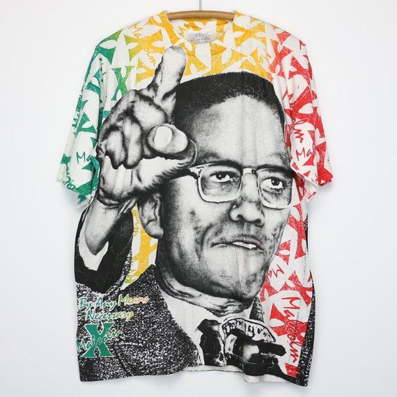 Vintage Malcolm X Mlk Raptee Tshirt 3x Tall Unbranded In 2020 T Shirt Malcolm X Rap Tee