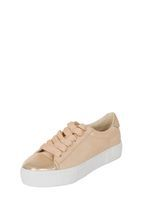 Womens *London Rebel Nude And Rose Gold Trainers- Multi