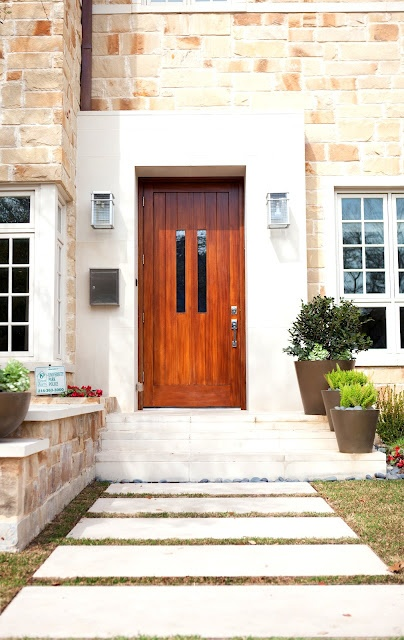 Contemporary front door - from Aurora House blog