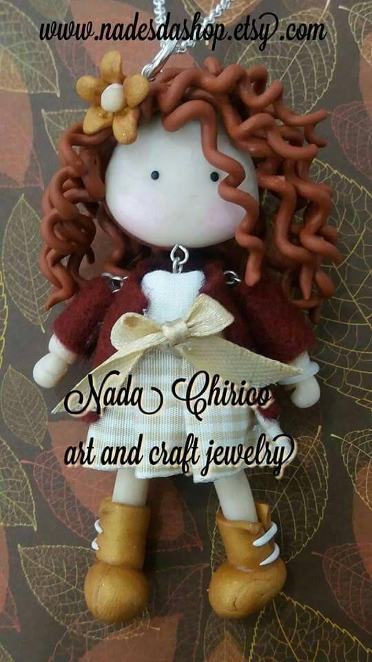 Guarda questo articolo nel mio negozio Etsy https://www.etsy.com/it/listing/484833015/collana-con-bambolina-necklace-doll