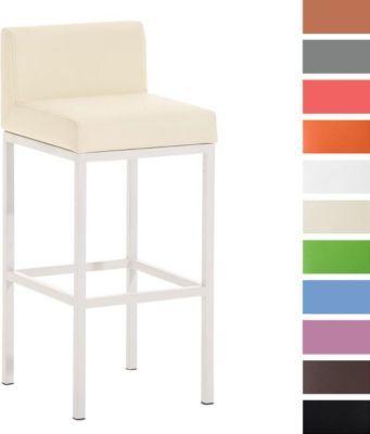 weißer Metall-Barhocker GOA W77, besonders standfest, mit Rückenlehne, 4 Beine, Sitzhöhe 77 cm Jetzt bestellen unter: https://moebel.ladendirekt.de/kueche-und-esszimmer/bar-moebel/barhocker/?uid=e19bc0fc-9b3e-51ad-a007-bbfbe02483c0&utm_source=pinterest&utm_medium=pin&utm_campaign=boards #barhocker #kueche #stehtische #esszimmer #barmoebel
