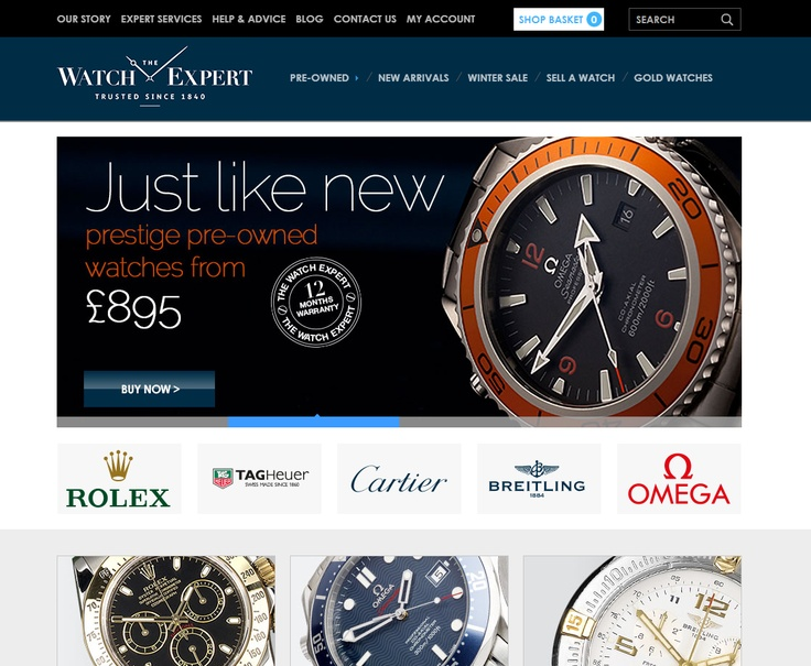 Best E-Commerce Site  The Watch Expert - http://www.thewatchexpert.co.uk  Implemented by Pixel Builders Ltd  As one of the largest jewelry retailers in the UK, with over 200 high-street stores, Herbert Brown recognized an available market online for selling pre-owned prestige watches. The website manages the whole process; http://www.kentico.com/Customers/Site-of-the-Year/Site-of-the-Year-2012