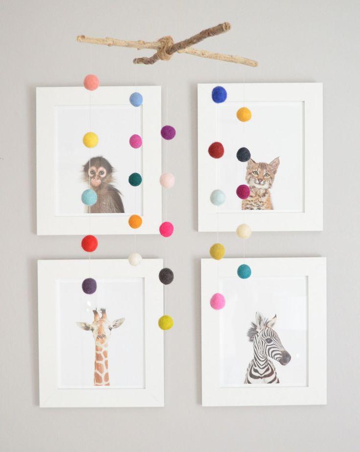 dyi mobile + animal prints