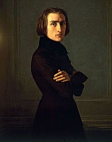 Portrait of Franz Liszt (c. 1839) by Henri Lehmann (1814-1882) was a German-born French historical painter and portraitist (wikipedia)