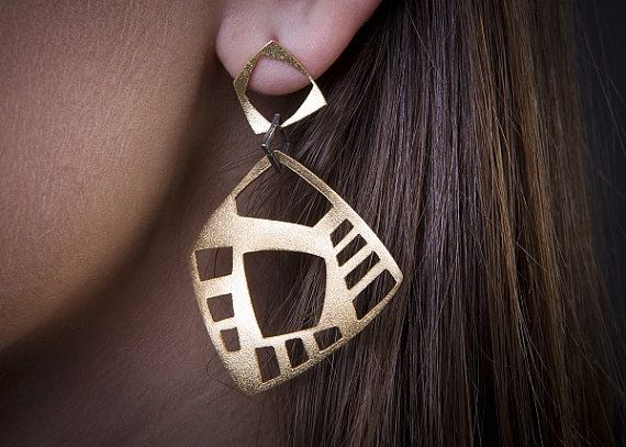 Geometrical Collectiongold plated silver by PapelLuxuryJewelry