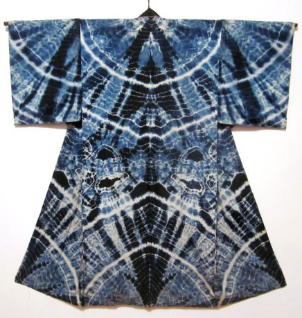 man's shibori juban  back  Daily Japanese Textile  IMG_1729