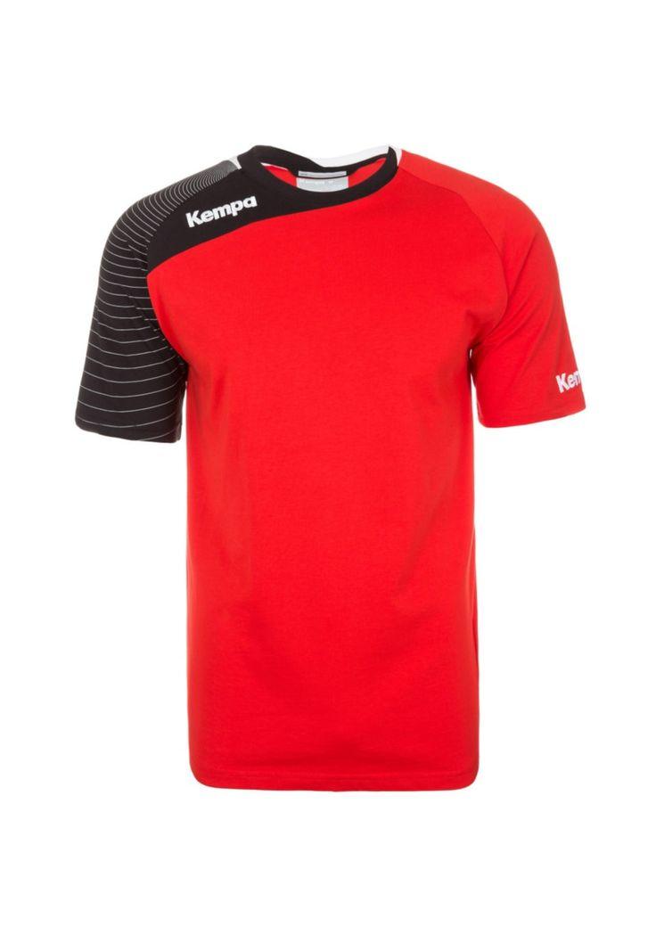 Мужская тренировочная футболка KEMPA. Цвет красный/черный. Коллекция весна/лето 2016. Купить в интернет-магазине Laub за 3310 рублей.